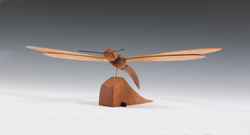 Stylized Dragonfly wood sculpture