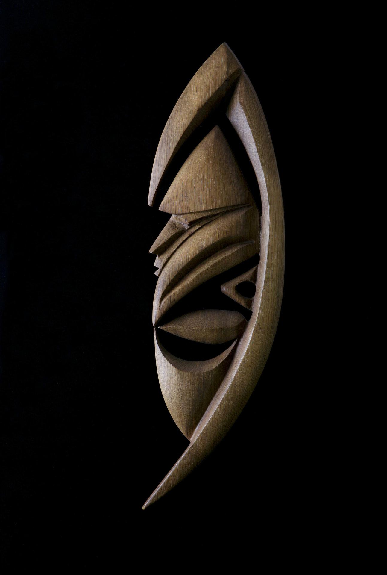 Yipwon Spirit Figure , White Oak