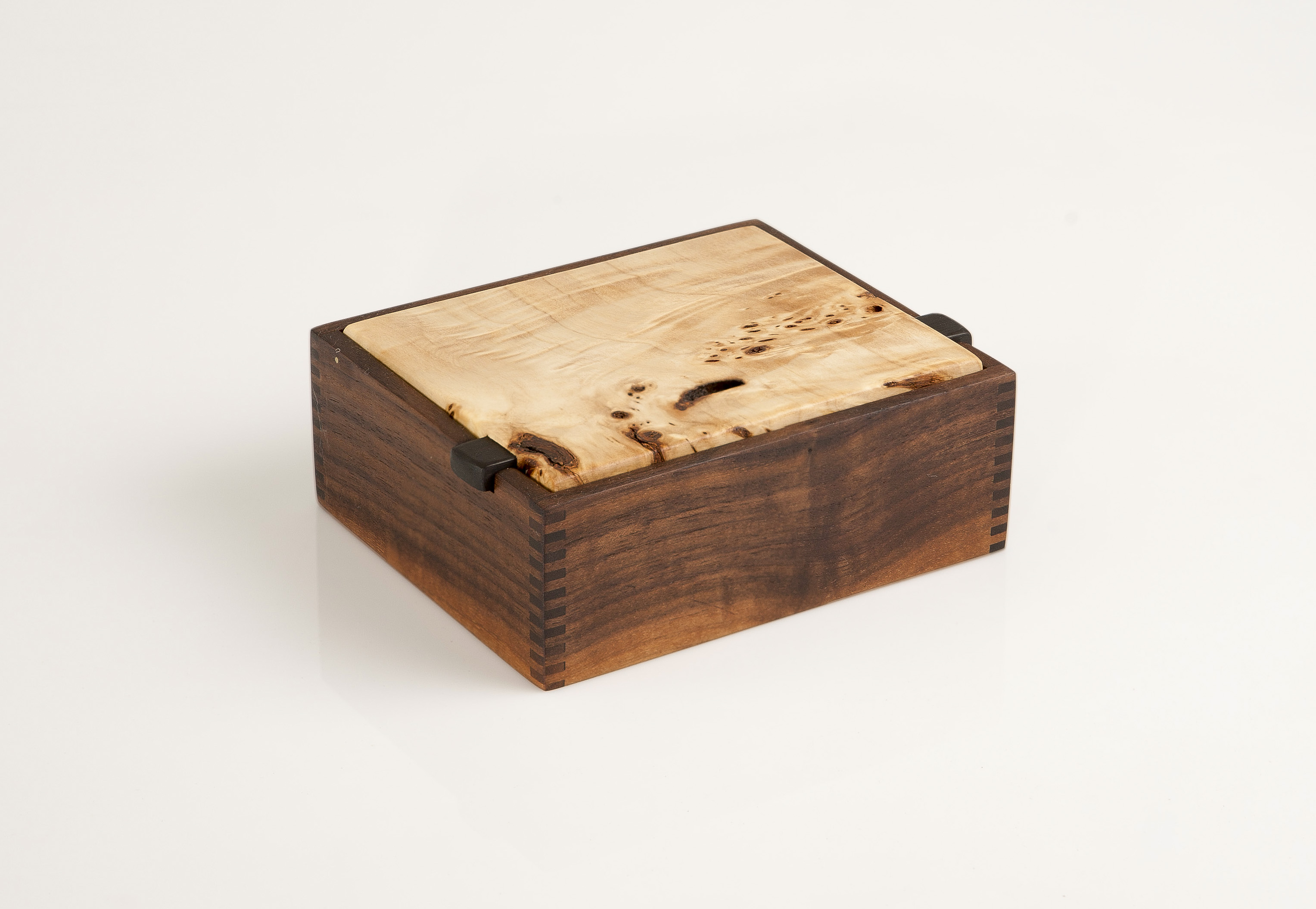 Wooden jewelry box , Mappa Burl