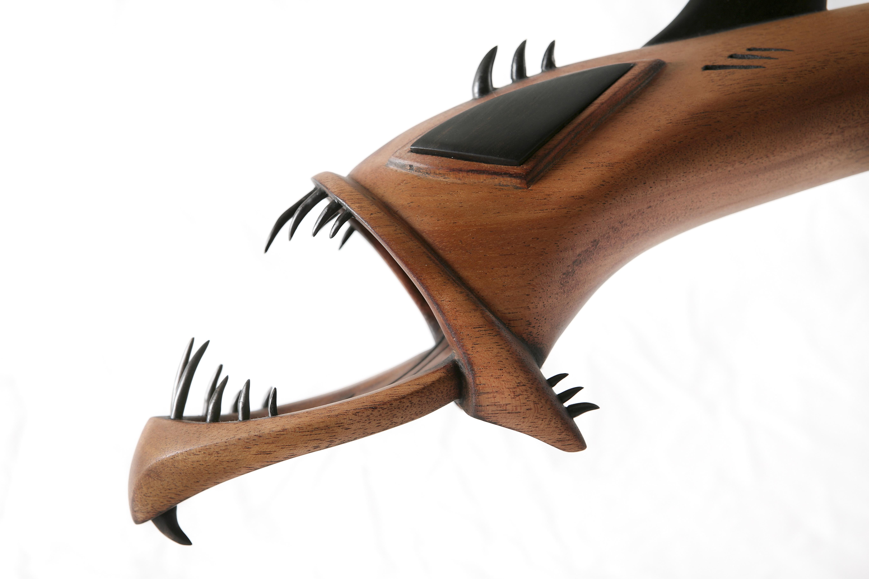 Deep sea Dragon Fish , wood sculptur