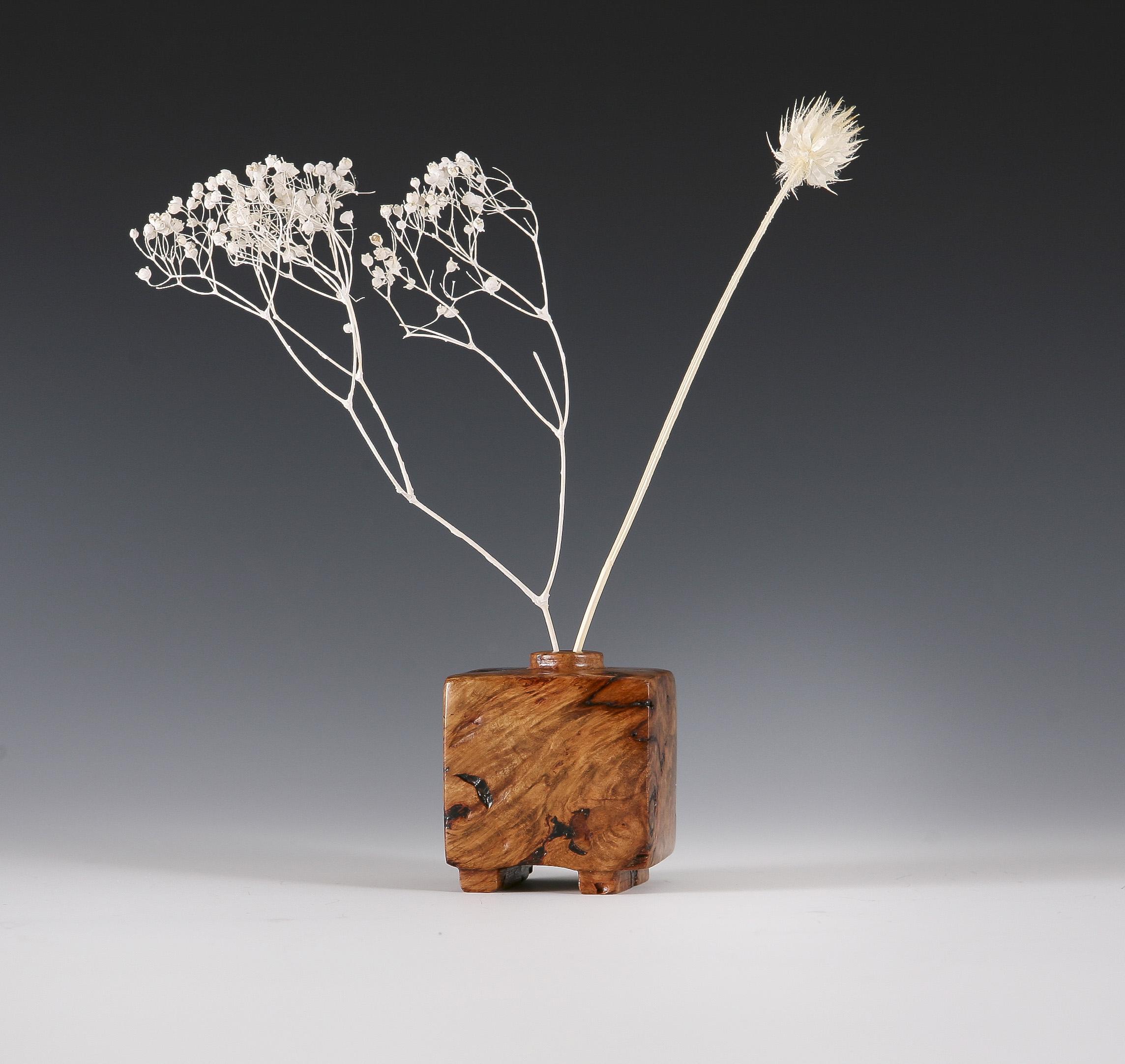 Wooden weed pot vase / incense holde