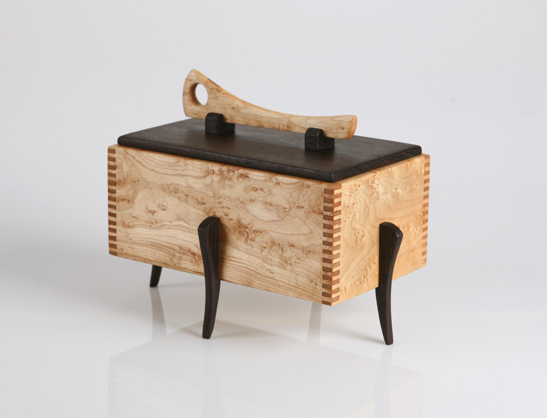 Wooden Jewelry Box , Birdseye Maple