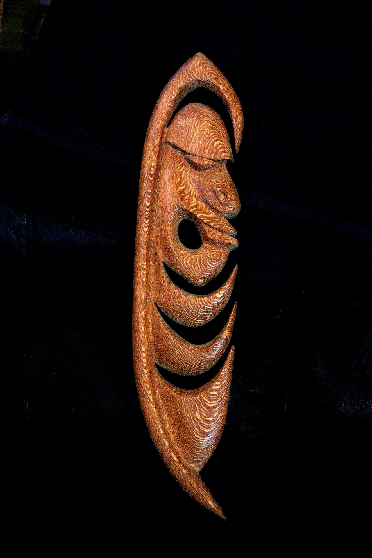 Yipwon Spirit Figure , Lacewood