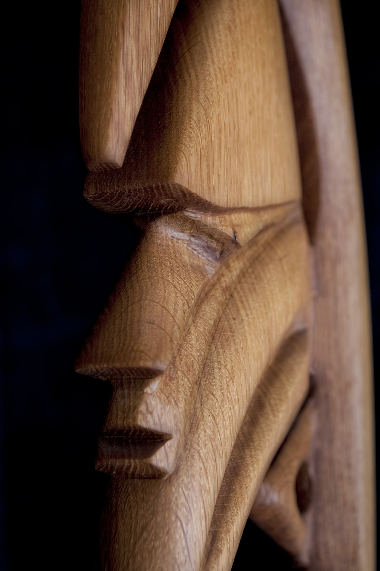 Yipwon Spirit Figure , Oak
