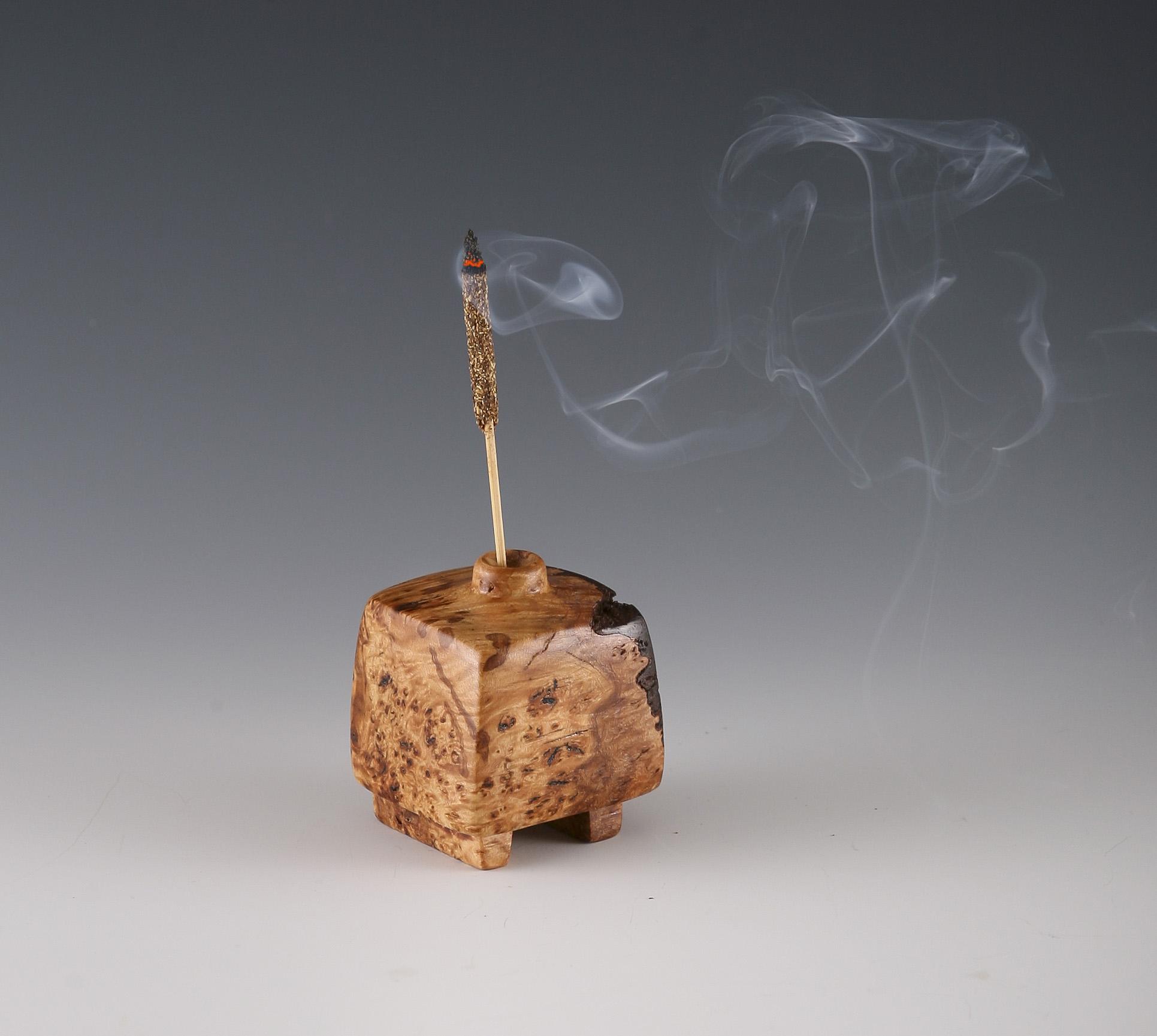 Wooden incense holder / Weedpot vase