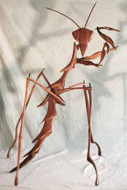 Insect Sculpture, Large Praying Mant