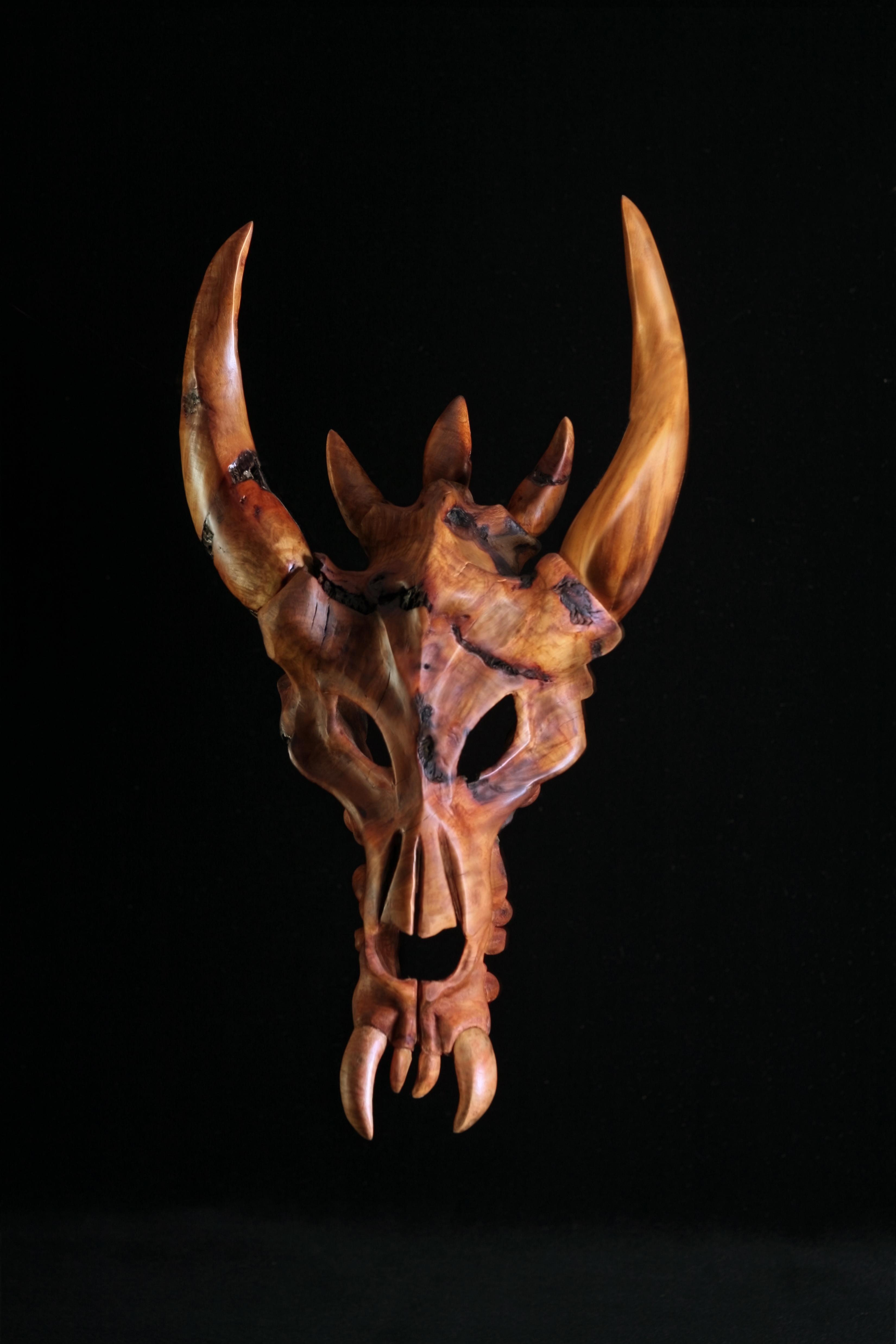 Dragon Skull Sculpture