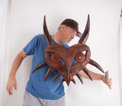 Large wooden Majora's mask