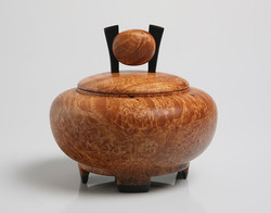 Asian style wooden urn