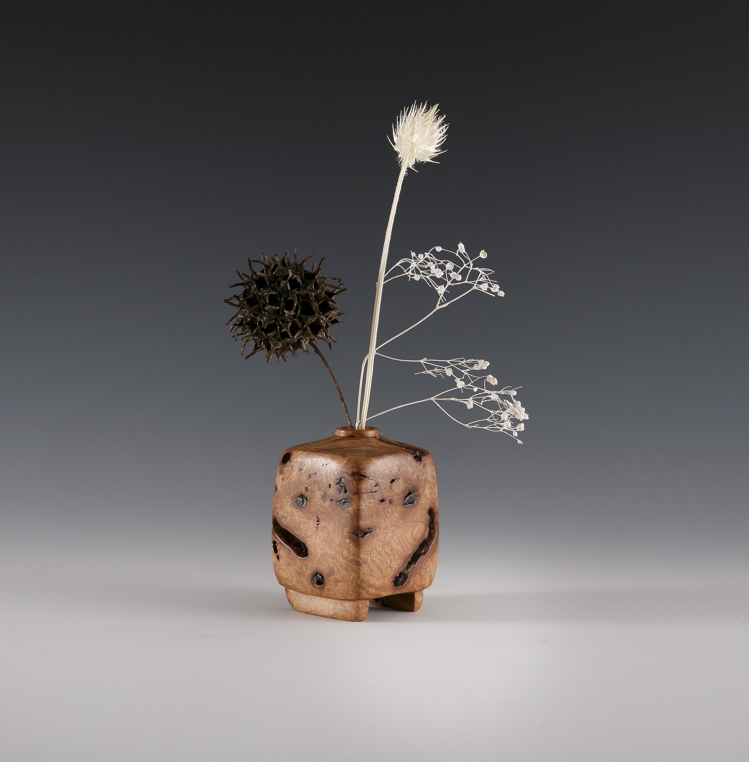 Wooden Weedpot vase, incense holder