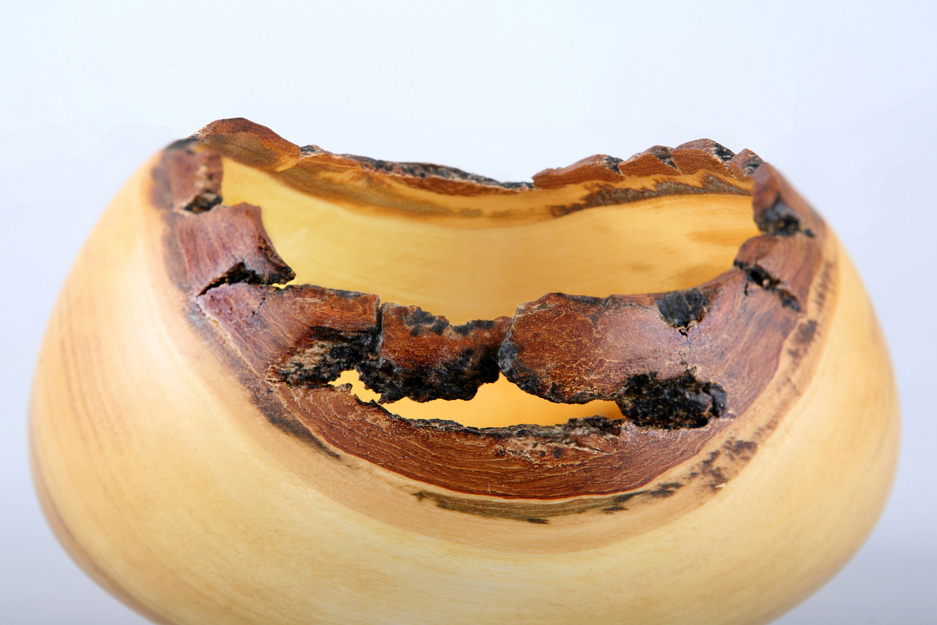 Live edged wooden bowl