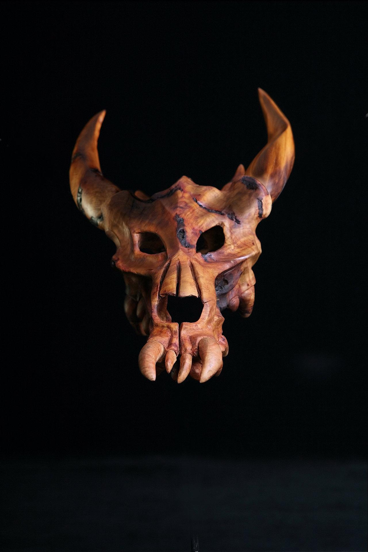 Wooden Dragon Sculpture