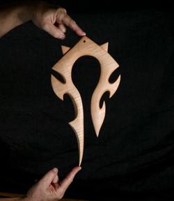 Horde wooden sculpture , Warcraft