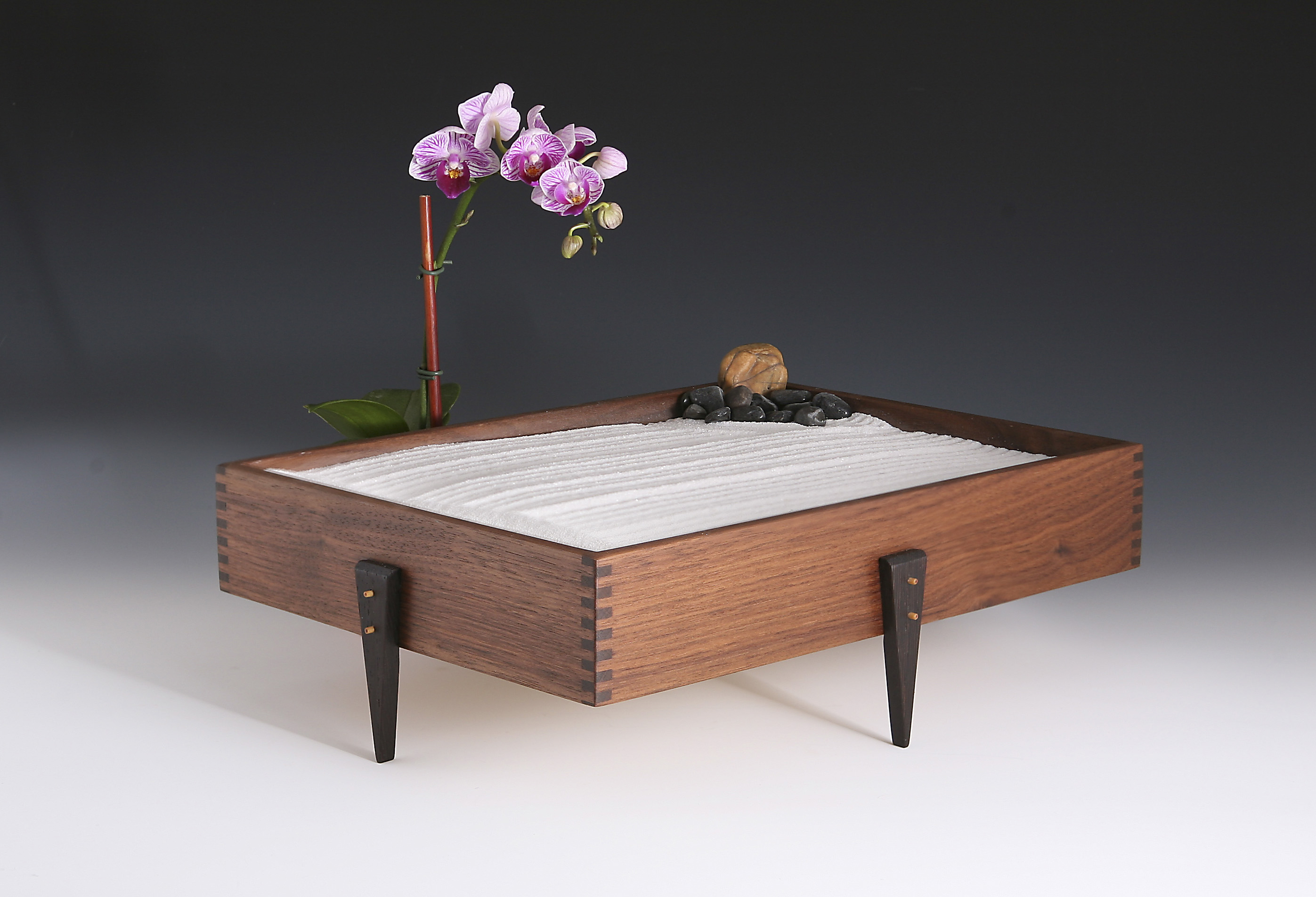 Table top zen garden , Black Walnut