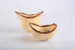 Natural edge bowls