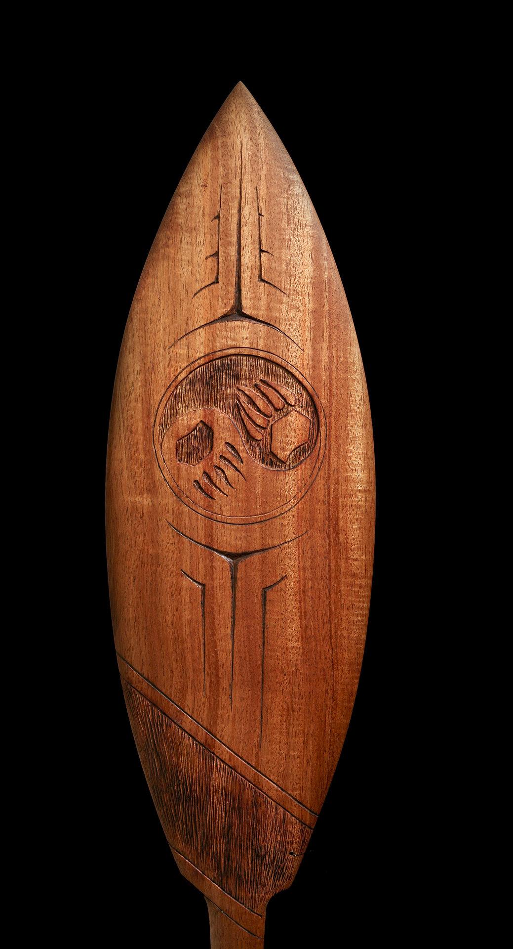 Haida bear paddle