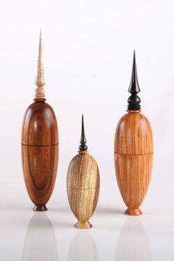 Three wood turnings