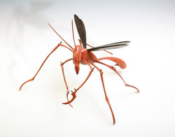 Insect Sculpture,  Wooden Wasp