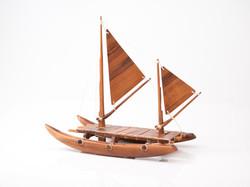 Hawaiian style catamaran