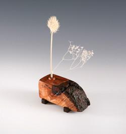 Burl wood Weedpot vase