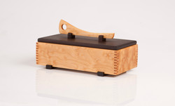 Wooden jewelry box , Quilted Maple