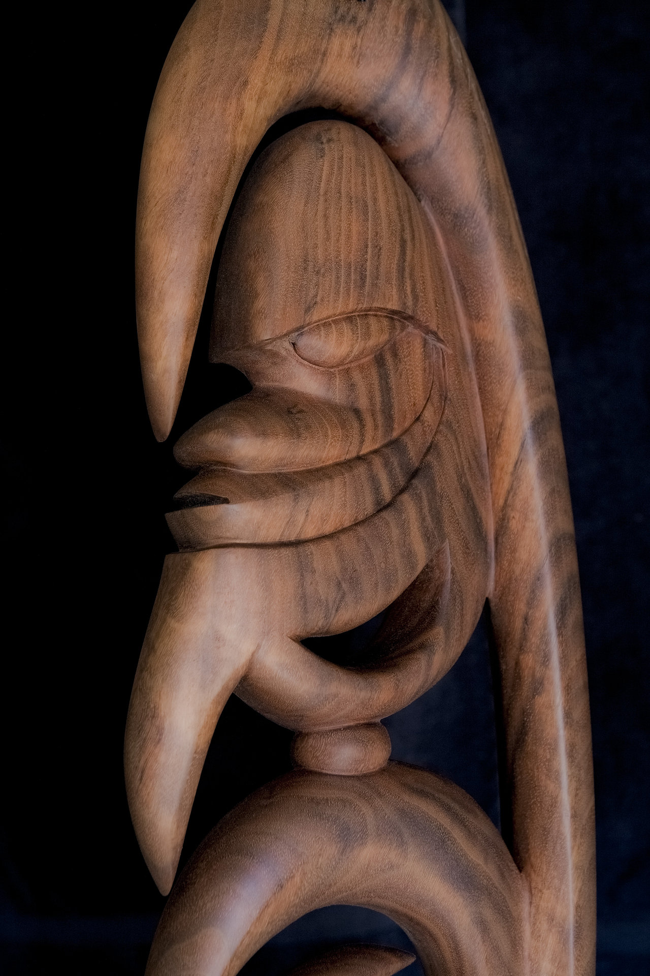 Yipwon Spirit Figure , Black Walnut