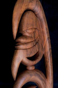 Yipwon Spirit Figure , Black Walnut