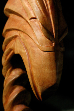 Eagle sculpture,  walking stick