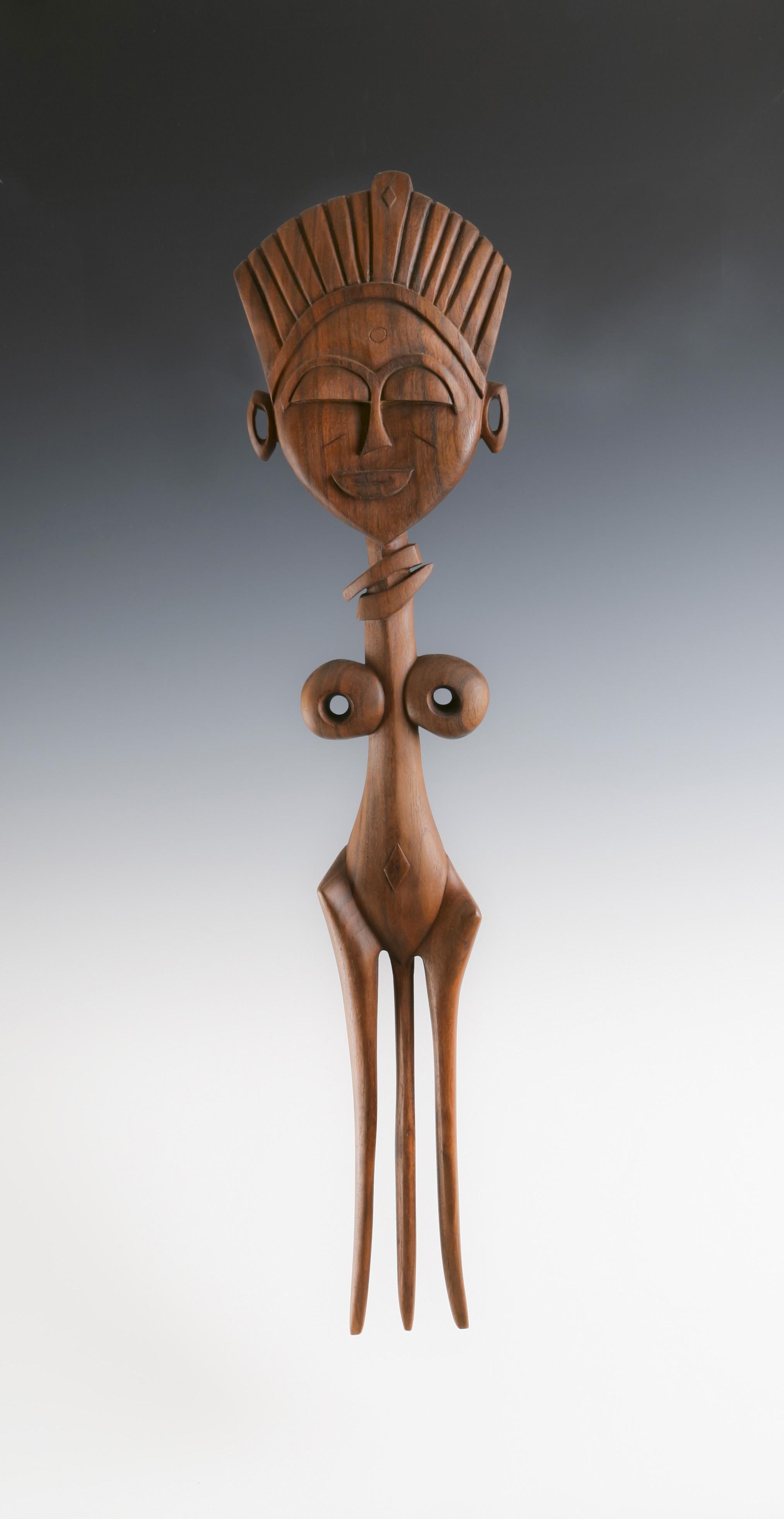African hair pin sculpture