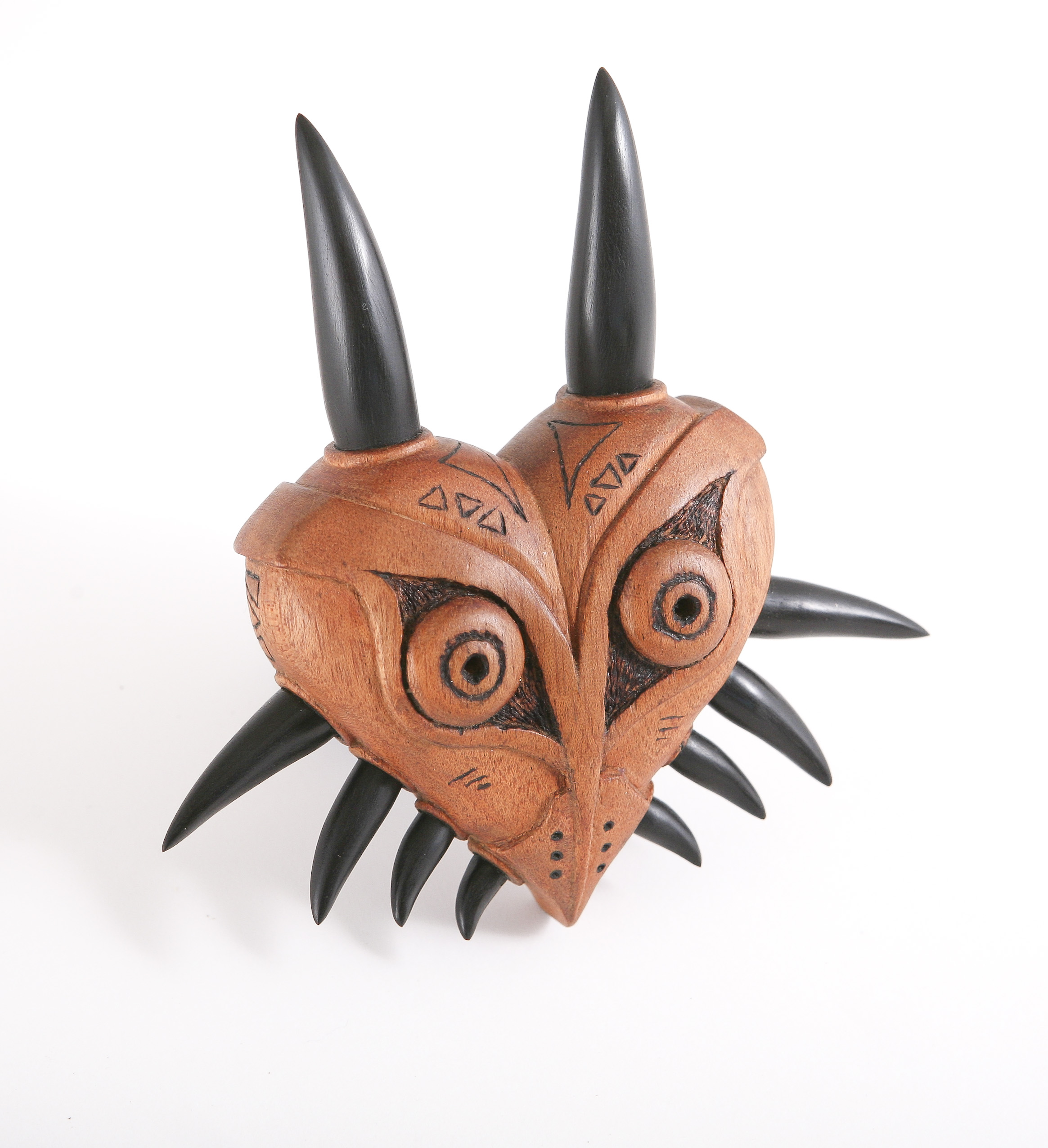 Wooden Majra's mask