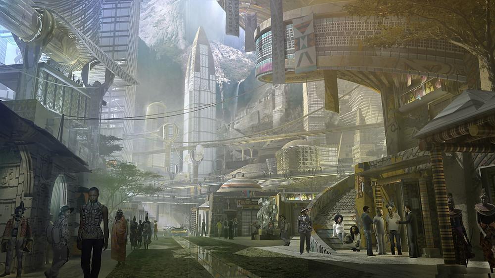 produzione scenografica wakanda architettura