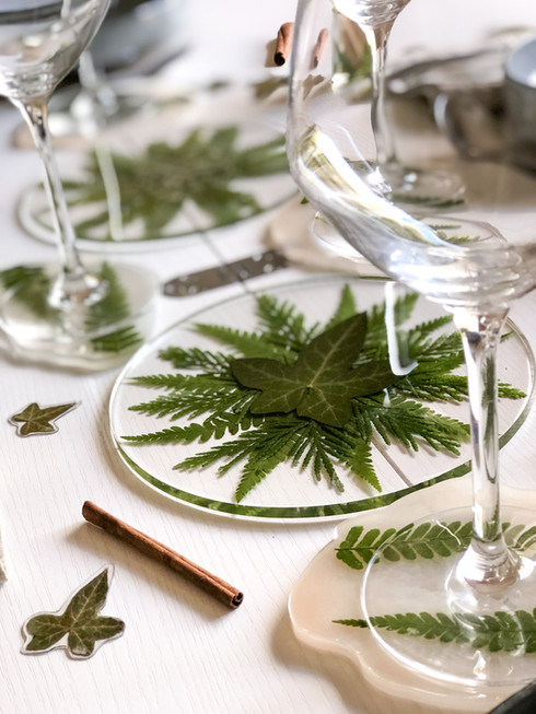 Décoration de table végétale