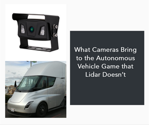 What Cameras Bring to the Autonomous Vehicle Game that Lidar Doesn't