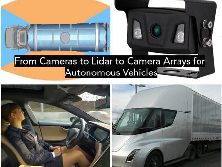 From Cameras to Lidar and on to Camera Arrays for Autonomous Vehicles