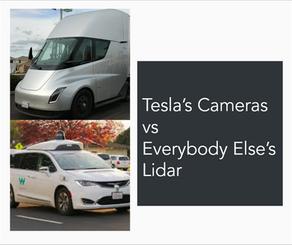 Tesla's Cameras vs Everybody Else's Lidar