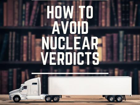How Trucking Companies Can Avoid Nuclear Verdicts