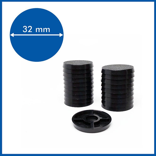 Round - 32mm Base - 20 Pack
