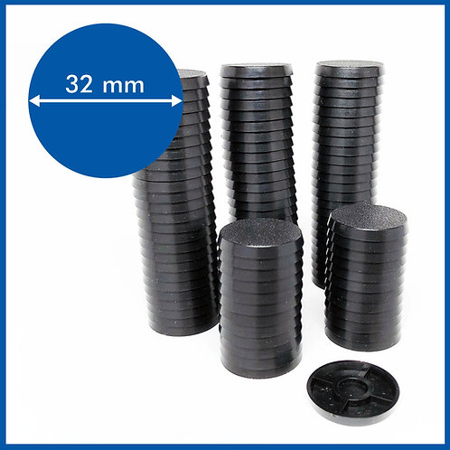 Round - 32mm Base - 100 Pack