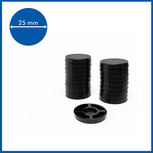 Round - 25mm Base - 20 Pack