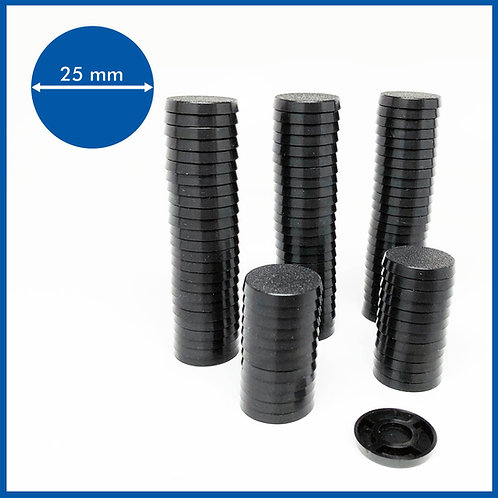 Round - 25mm Base - 100 Pack