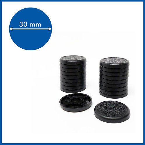 Round Lipped - 30mm Base - 20 Pack