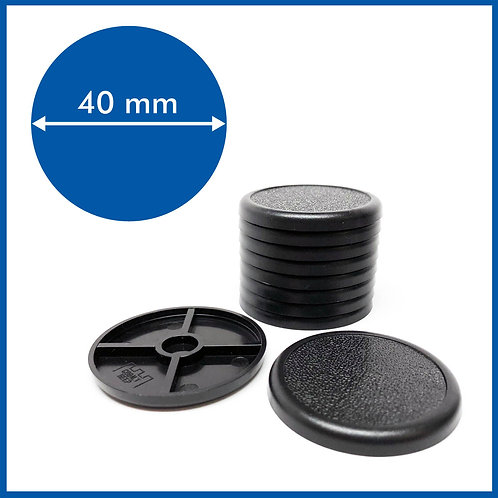 Round Lipped - 40mm Base - 10 Pack
