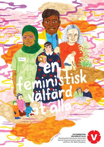 Affisch för Vänsterpartiet Hammarby-Skarpnäck