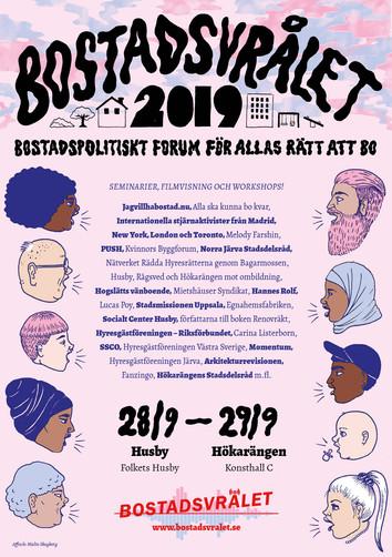Bostadsvrålet 2019 affisch