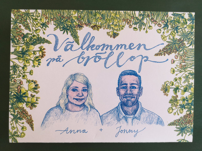 Bröllopsinbjudan Anna & Jonny