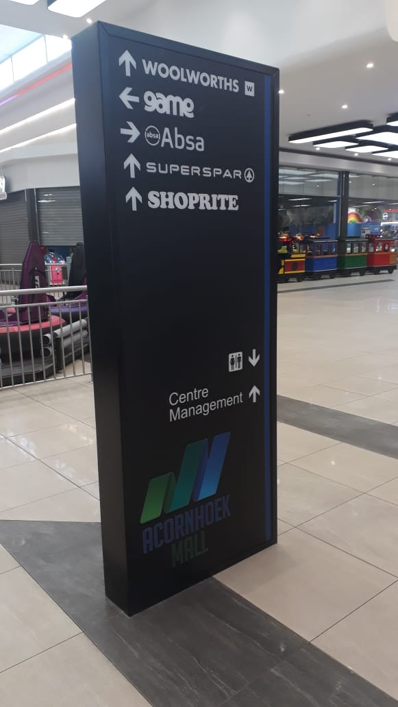 Acornhoek Mall Way-Finding Pylon1