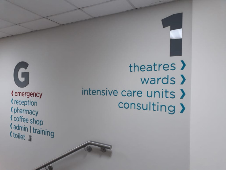 ZAH Way-Finding Perspex Letters