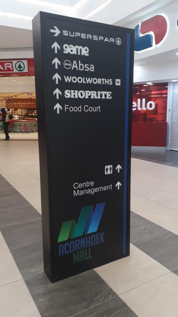Acornhoek Mall Way-Finding Pylon2