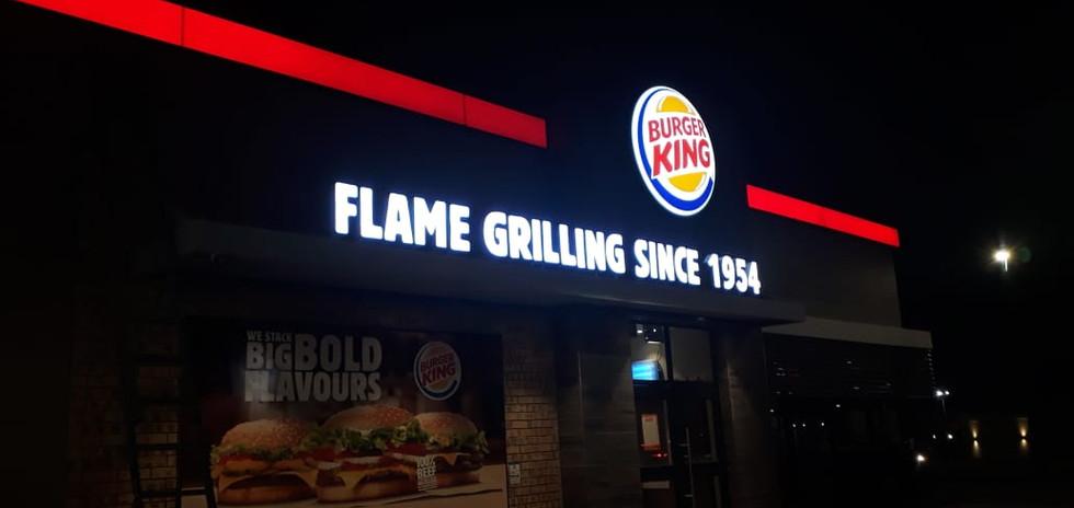 Burger King Custom Logo, Letter and Stri