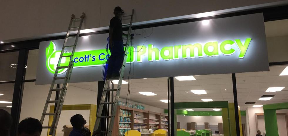 Pharmacy Sign LED Illumination